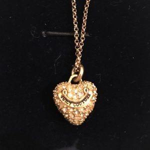Juicy Couture Gold Heart Necklace